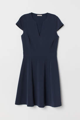 H&M V-neck Dress - Blue
