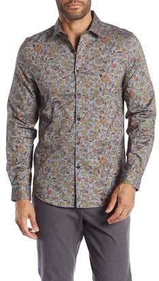 Paisley & Gray Long Sleeve Print Slim Fit Woven Shirt