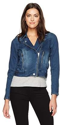 Blank NYC [BLANKNYC] Women's Indigo Knit Cropped Moto Jacket