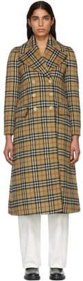 Burberry Beige Check Aldemoor Coat