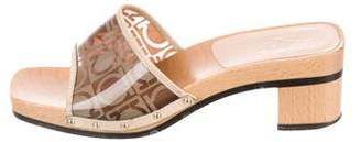 Salvatore Ferragamo Gancini Slide Sandals