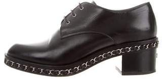Chanel CC Chain-Link Oxfords