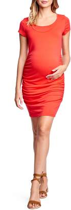 Maternal America Short Sleeve Ruched Maternity/Nursing Dress