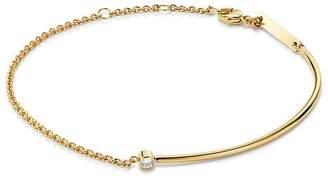 Chicco Zoë 14K Yellow Gold Wire & Chain Diamond Bracelet