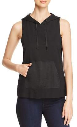 Kenneth Cole Mixed-Media Sleeveless Hoodie