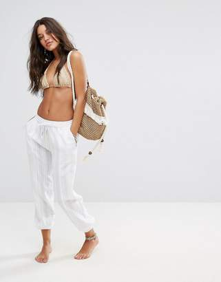 Seafolly Washed Dobby Beach Pant $95 thestylecure.com