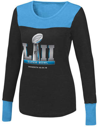 Touch by Alyssa Milano Women's Super Bowl 52 Blindside Thermal Long Sleeve T-Shirt