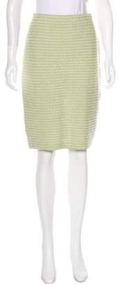 St. John Bouclé Pencil Skirt