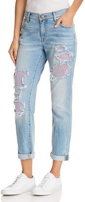 True Religion Cameron Mesh Detail Boyfriend Jeans in Second Quarter