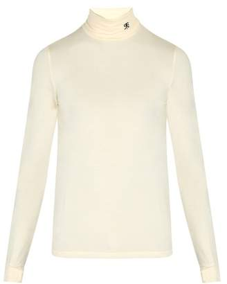 Raf Simons Atari Stretch Jersey Roll Neck Sweater - Mens - White