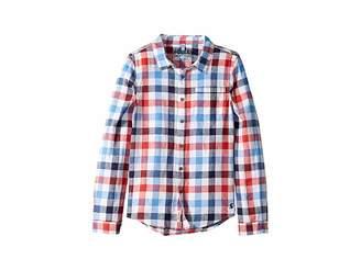 Joules Kids Sark Button Up Shirt (Toddler/Little Kids/Big Kids)