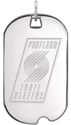 LogoArt NBA Portland Trail Blazers 10kt White Gold Large Dog Tag