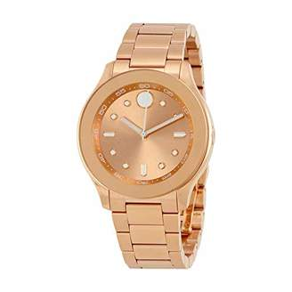 Movado Women's Swiss Quartz Gold Plated Casual Watch(Model: 3600417)