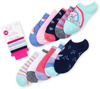 Charlotte Girls 4-6x) 10-Pack No-Show Printed Socks