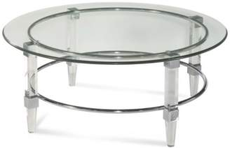 Bassett Mirror Cristal Round Cocktail Table