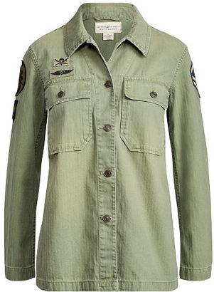 Ralph Lauren Denim & Supply Military Cotton Shirt $225 thestylecure.com