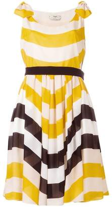 Fendi stripe pleated dress