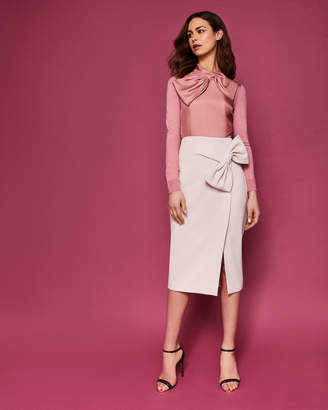 Ted Baker LIYAH Bow trim pencil skirt