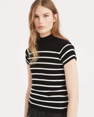 Ralph Lauren Striped Mockneck Sweater