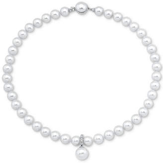 Majorica Sterling Silver Cubic Zirconia & Imitation Pearl Necklace