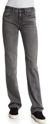 Helmut Lang Flare-Leg Denim Jeans, Light Gray $320 thestylecure.com