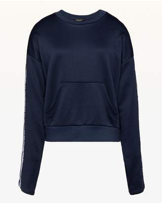 Juicy Couture Tricot Logo Side Snap Pullover