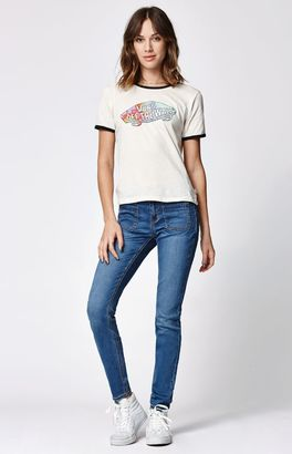 Bullhead Denim Co. Groupie Blue Low Rise Patch Pocket Skinniest Jeans $49.95 thestylecure.com