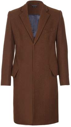 Blend of America He & DeFeber - Brown Wool Classic Tailored Overcoat