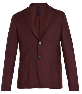 Harris Wharf London Pressed Virgin Wool Blazer - Mens - Burgundy