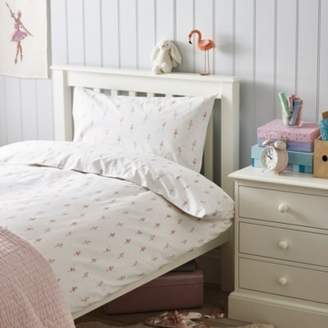The White Company Ballerina Easycare Bed Linen, Pink, Cot Bed