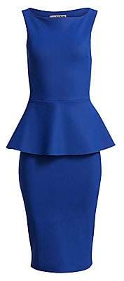Chiara Boni Women's Nabira Peplum Sheath Dress
