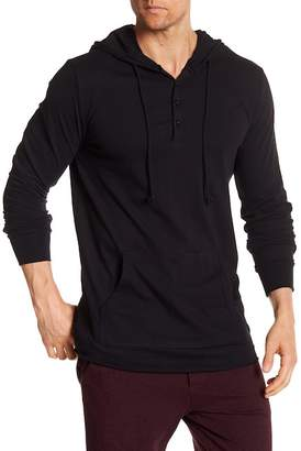 Unsimply Stitched Lightweight Henley Hoodie