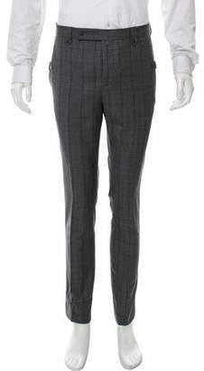Lanvin Glen Plaid Virgin Wool Pants