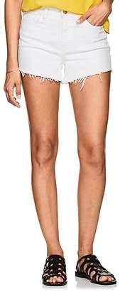 L'Agence Women's Ryland Denim Cutoff Shorts - White