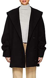 The Row Women's Ernstly Cotton-Wool Hooded Coat-Black