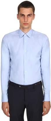 Ermenegildo Zegna Slim Fit Stretch Cotton Poplin Shirt
