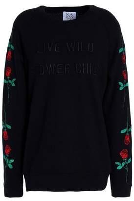 Zoe Karssen Embroidered French Cotton-Blend Terry Sweatshirt