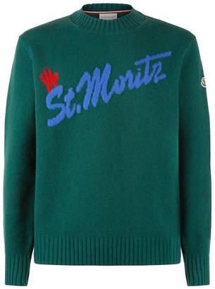 Moncler Intarsia Crew Neck Sweater