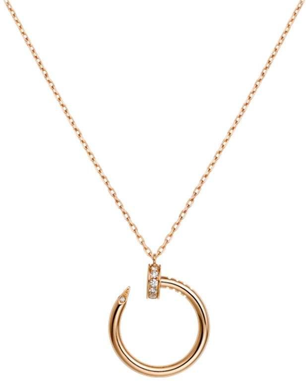 Pink Gold and Diamond Juste un Clou Necklace