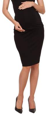 Zeta Ville Fashion Zeta Ville - Womens Maternity midi length pencil skirt stretch waistband - 066c (