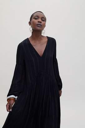 ccdda87f37266 Bl Nk Metallic-Striped Cover-Up Dress