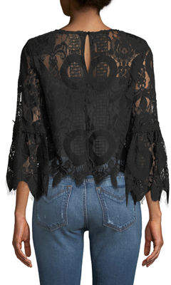 STYLEKEEPERS Love Lock Lace Bell-Sleeve Top