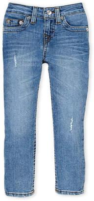 True Religion Boys 4-7) Aruba Blue Destructed Slim Jeans