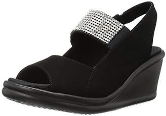 Skechers Cali Women's Rumblers Sparkle on Wedge Sandal,6 M US