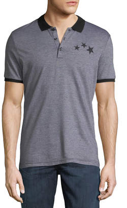 Antony Morato Men's Jacquard Star-Embroidered Polo