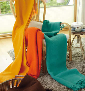 Jodie Byrne Plain Wool Throws With Fringing