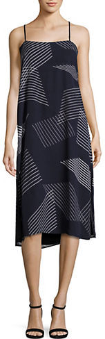 DKNY Dkny Embroidered Striped Dress