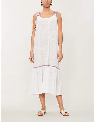 Pitusa Pom-pom trimmed cotton-blend jersey dress