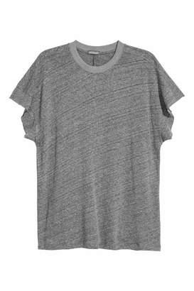 H&M T-shirt with Cut-off Sleeves - Gray melange - Men