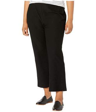 Eileen Fisher Plus Size Washable Stretch Crepe Flare Ankle Pants